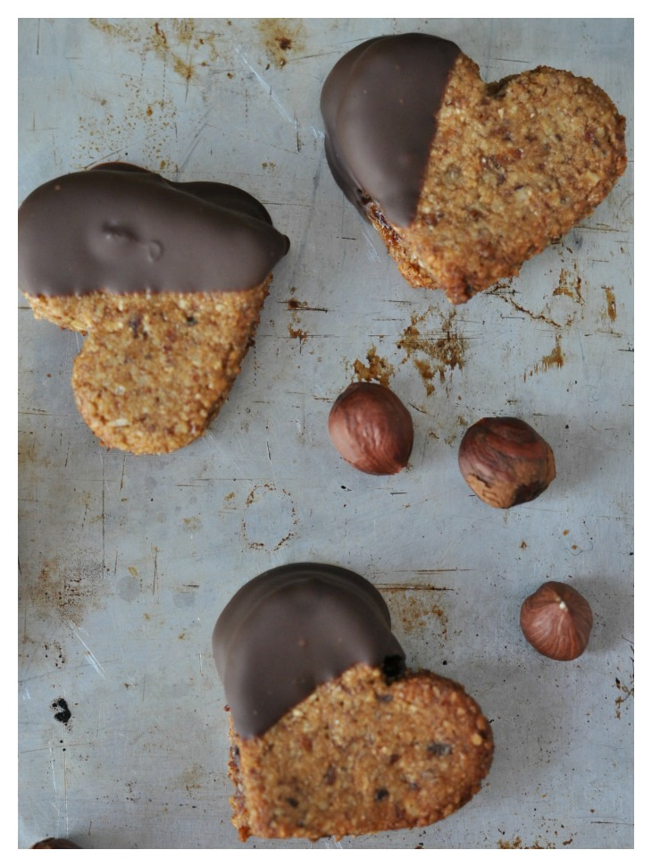 plum filled hazelnut cookies, a gluten free treat full of flavor