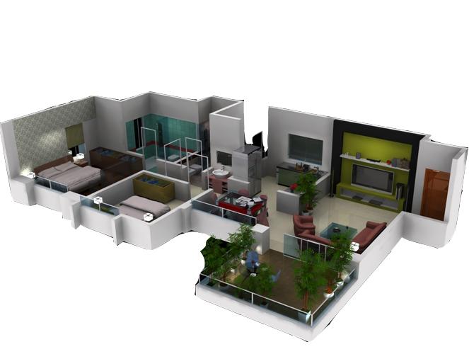 desain rumah idaman dan minimalis dalam bentuk 3d