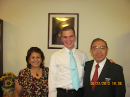 Elder Claypool with his Mission President and wife