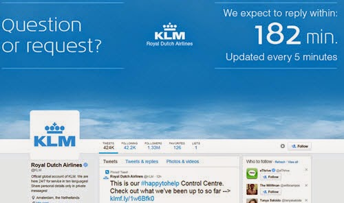 KLM #HappyToHelp Twitter Social Media marketing campaign