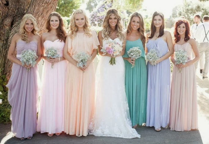 trendy mismatched bridesmaid dresses