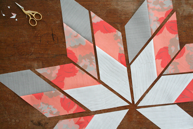modern lone star quilt in process