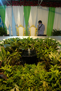 Ucus : The Pelamin and meja makan are ready