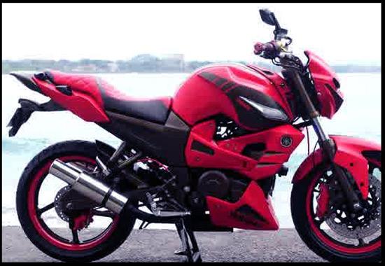 modifikasi motor byson merah terkeren
