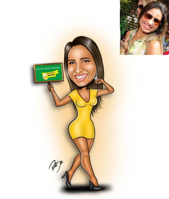 #desenhista #caricaturista #traços #mulher #corpão #violão