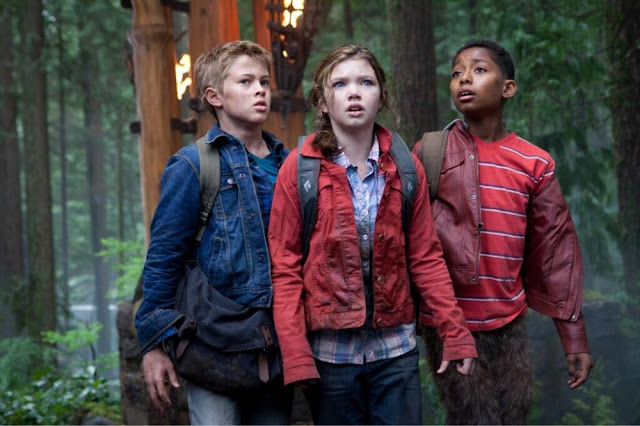 Younger versions of Luke Castellan, Annabeth Chase and Grover Underwood