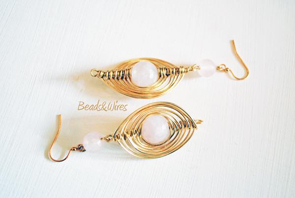 orecchino wires rosa