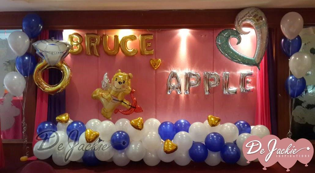 Balloon decorations for weddings birthday parties for Balloon decoration for engagement party