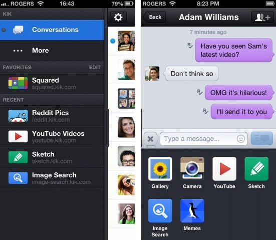 Kik Messenger Get Big Update for iPhone, iPad, iPod & Android