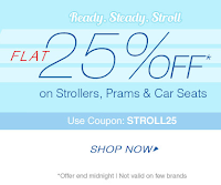 Firstcry : Flat 25% OFF* on Strollers, Prams & Car Seats :  Buy To Earn