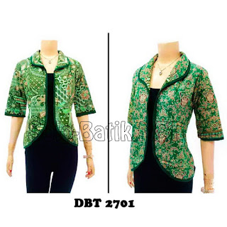 DBT2701 Model Baju Blouse Batik Modern Terbaru 2013