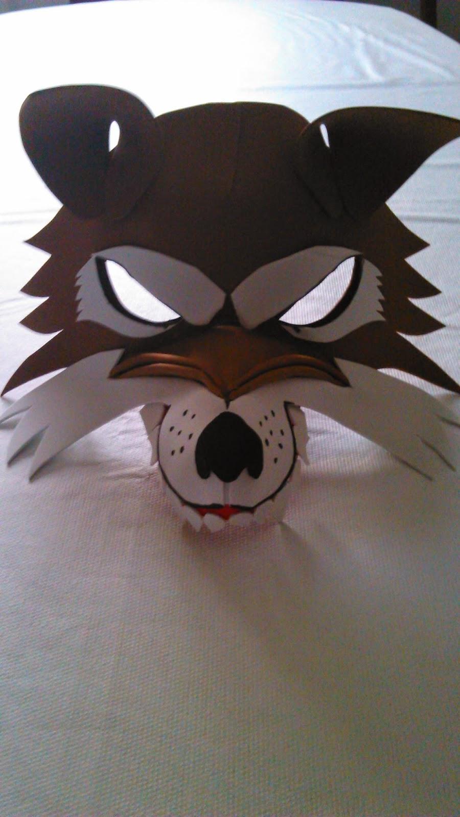 Como hacer una mascara de lobo paso a paso imagui - Como hacer una mascara ...