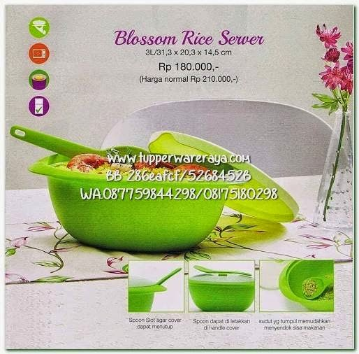 Tupperware Promo April 2015 Blossom Rice Server
