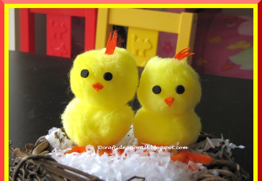 Craft ideas for all easy easter baby chick
