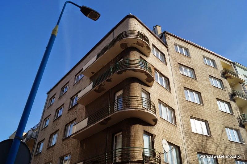 Warszawa Ochota kamienice lata 30 redakcja Polityki balkony modernizm