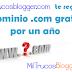 Dominio .COM Gratis