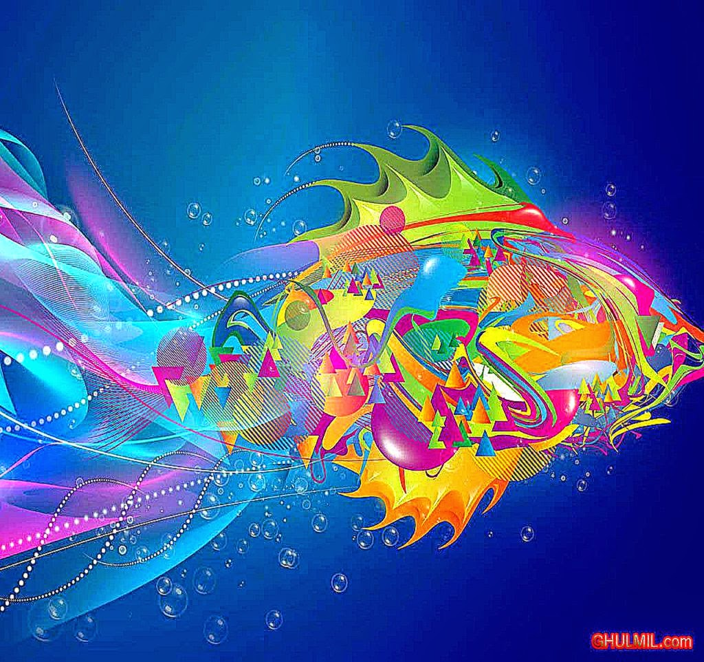 cool 3d colorful wallpaper love - photo #21