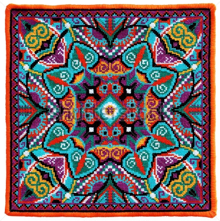wzor geometrycznego haftu krzyzykowego