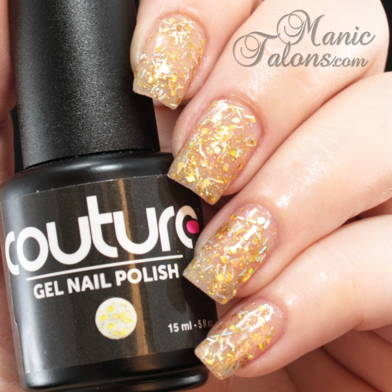 Couture Gel Polish All That Glitters Collection Put A Ring On It Swatch