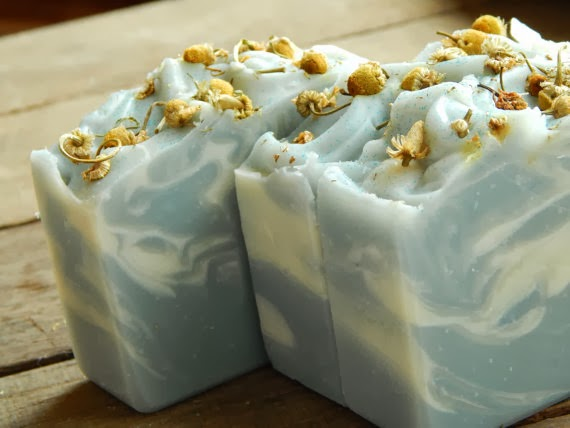 Blue swirl soap for Color Palette Inspiration
