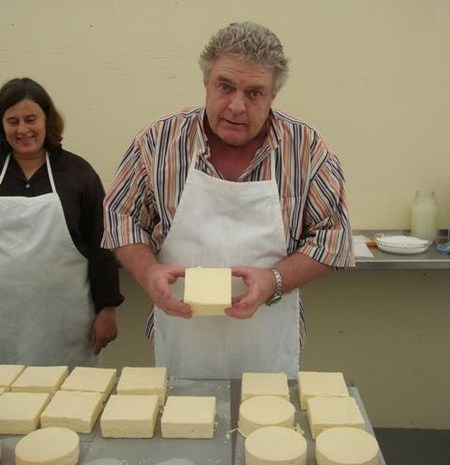 Belizeans making cheese in Belize