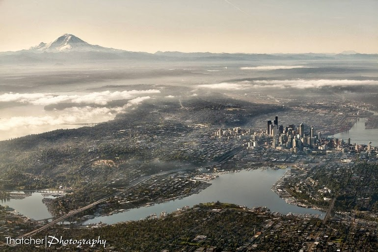 aerial photography - Seattle, Wash