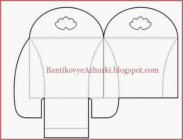 Подарочная упаковка с сердечками схема