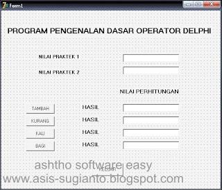Program Operator Dasar Menggunakan Delphi
