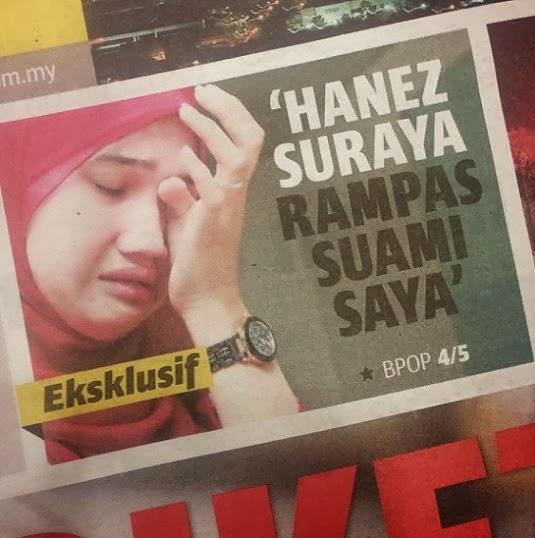 Hanez Suraya memang rampas suami, hiburan, gossip, info, terkini, kontroversi hanez suraya,