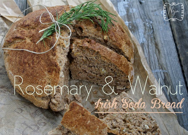 rosemary & walnut irish soda bread + bread spread with wild garlic / irski kruh z rožmarinom in orehi + namaz s čemažem