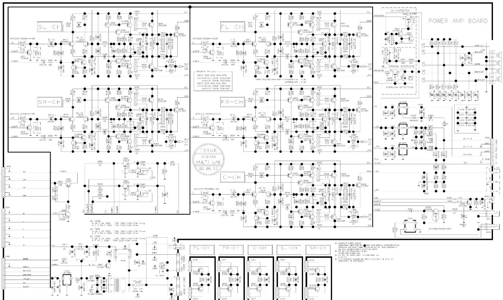 harman kardon avr-2550 - main board