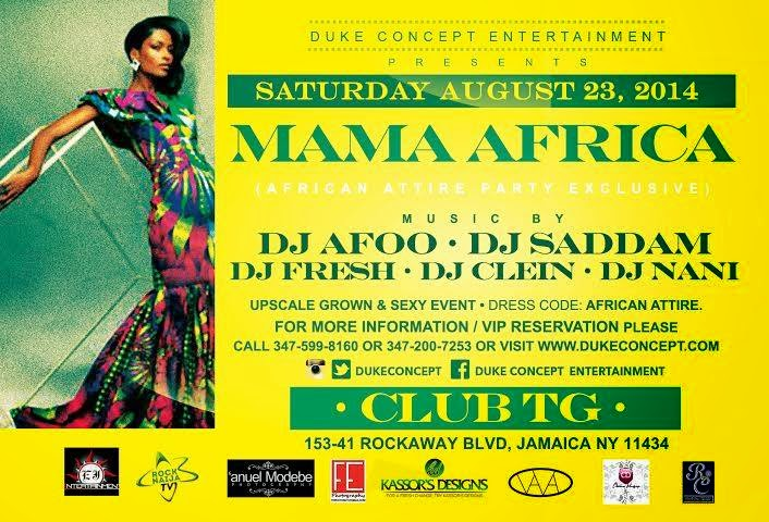 Africa Attire Party This Saturday