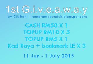 First Giveaway By Cik Itah | ramaramapendek