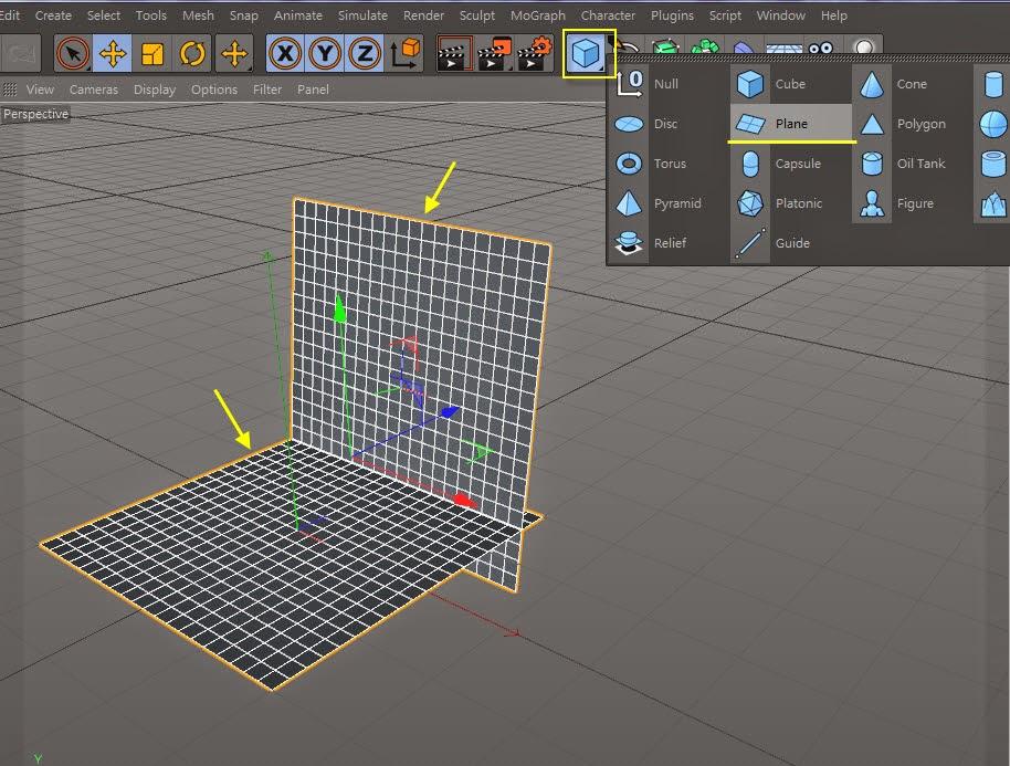 3d object on  2d image inC4D 01