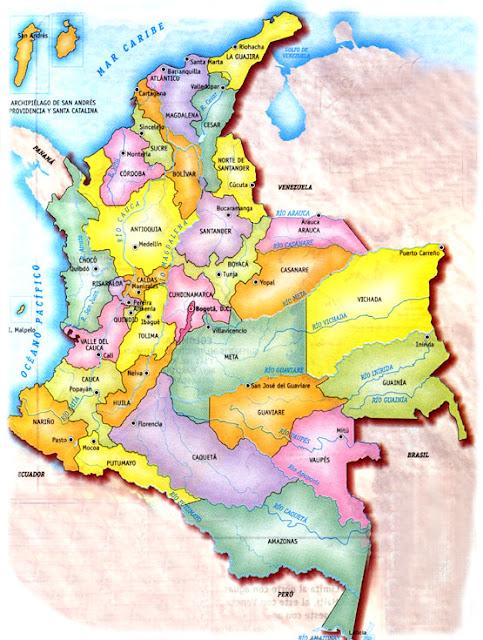 mapa de los ríos de colombia