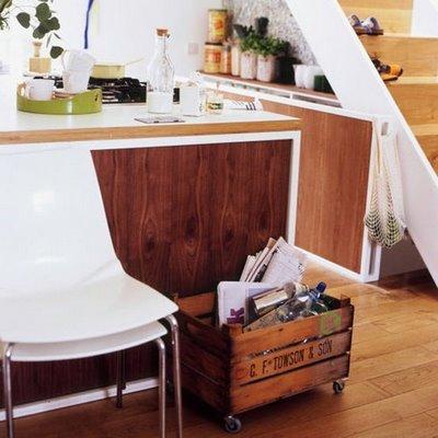 Use caixotes de madeira na decoração da casa