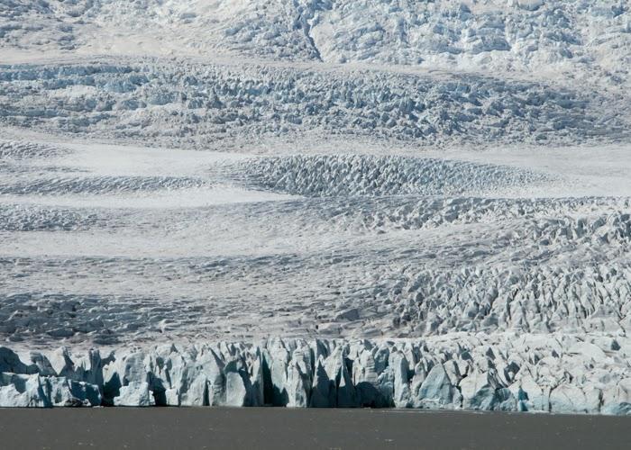 Island: Vatnajökull der größte Gletscher Islands.