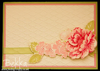 Simple Decoupage Stippled Blossoms Card by Stampin' Up! Demonstrator Bekka Prideaux - the instructions for this technique are on her blog