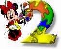 Alfabeto de Minnie Mouse pintando 2.