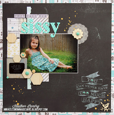 Nickname Sissy_Scrapbook Page_Daughter Love