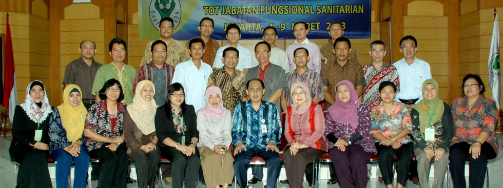 Training of Trainer Jabatan Fungsional Sanitarian Maret 2013
