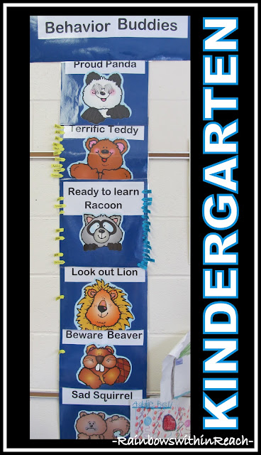 photo of: Behavior Chart with Animal Characters (Behavior Chart RoundUP via RainbowsWithinReach)