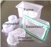Forma plástica para fazer queijo