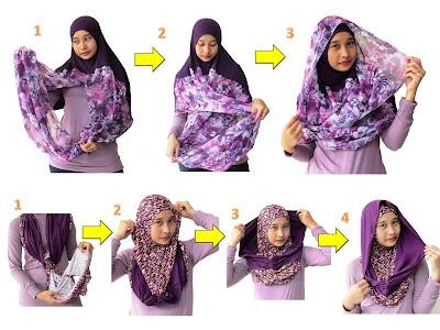 cara memakai hijab jilbab 02