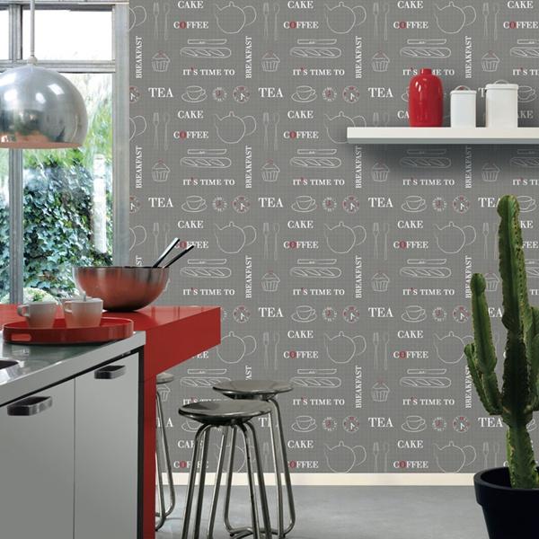 Papel pintado papel pintado cocinas voyage - Papel pared cocina ...