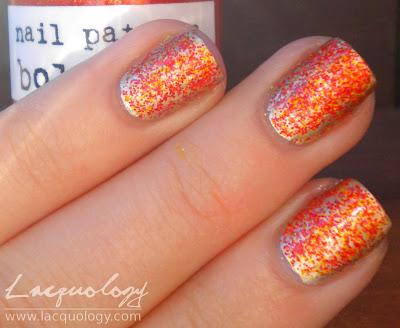 nail pattern boldness seppuku with a frisbee swatch