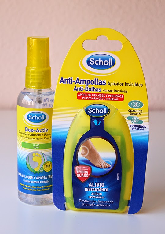 Spray Deo Activ y apósitos anti-ampollas de Dr. Scholl