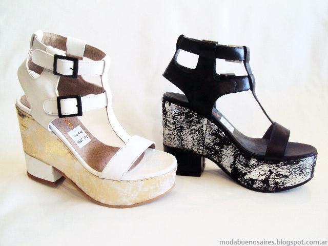 Tendencias de moda en calzado femenino. Sandalias 2015. Moda Argentina.