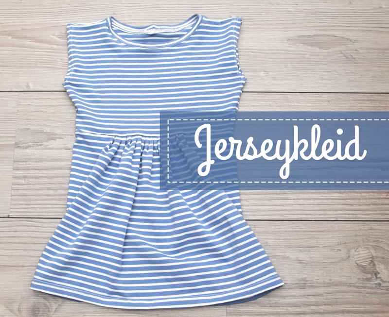 Jerseykleid nach Schemaschnitt für Kleine und Große | von mri