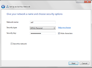 Cara membuat wifi LAN di windows 7